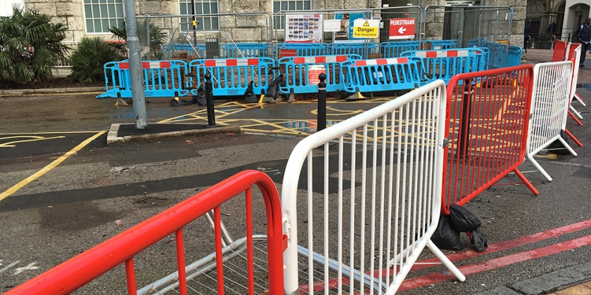 construction work barricades