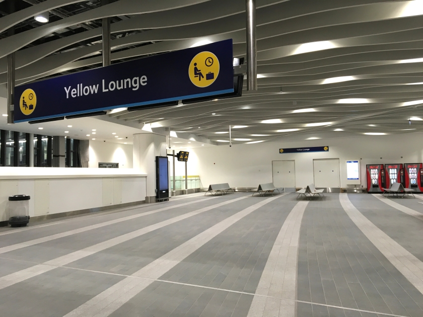 Yellow lounge. New Street station, Birmingham