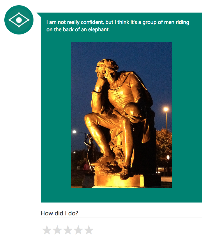 "CaptionBot says: ""I am not really confident, but I think it's a group of men riding on the back of an elephant."""