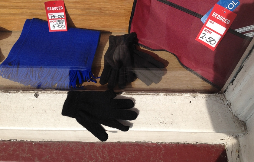 single black glove