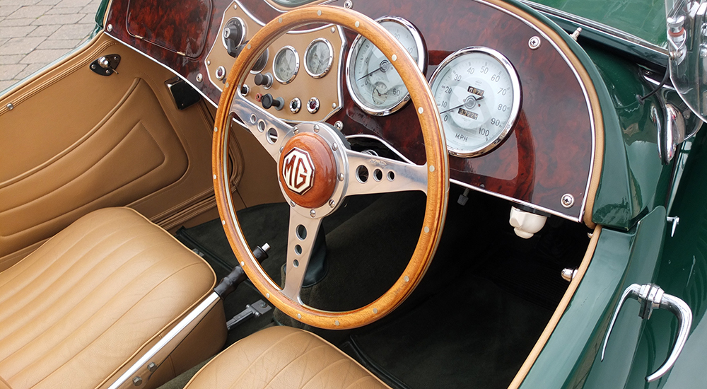 Classic MG dashboard