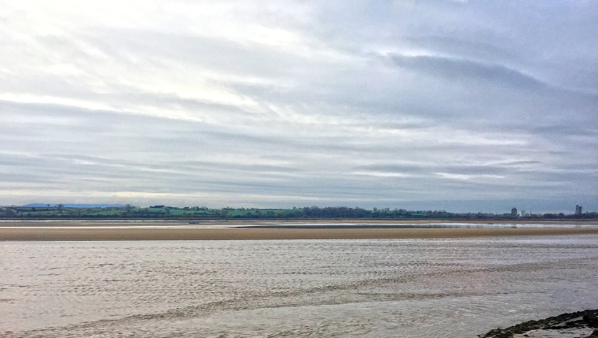 Severn estuary; low tide