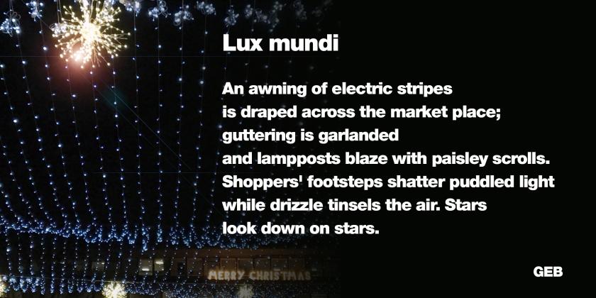 lux mundi - poem