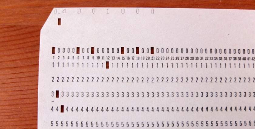 computer punchcard