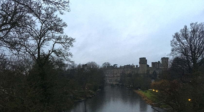 Warwick Castle at dusk