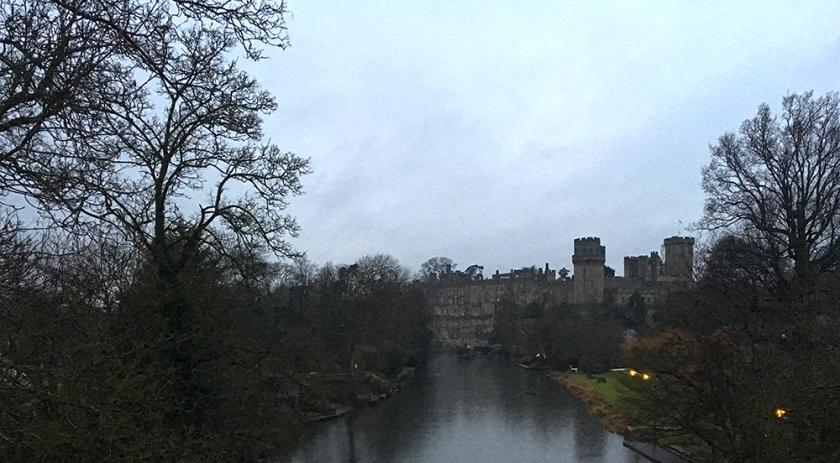 Warwick Castle at dusk