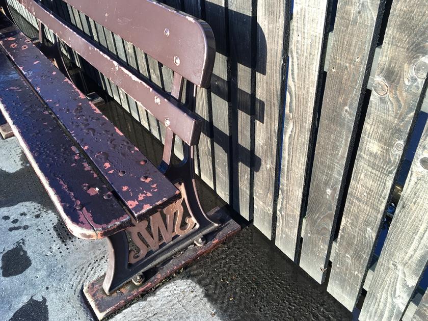 Railway bench