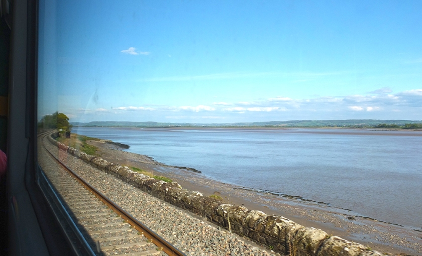 Severn Estuary from train