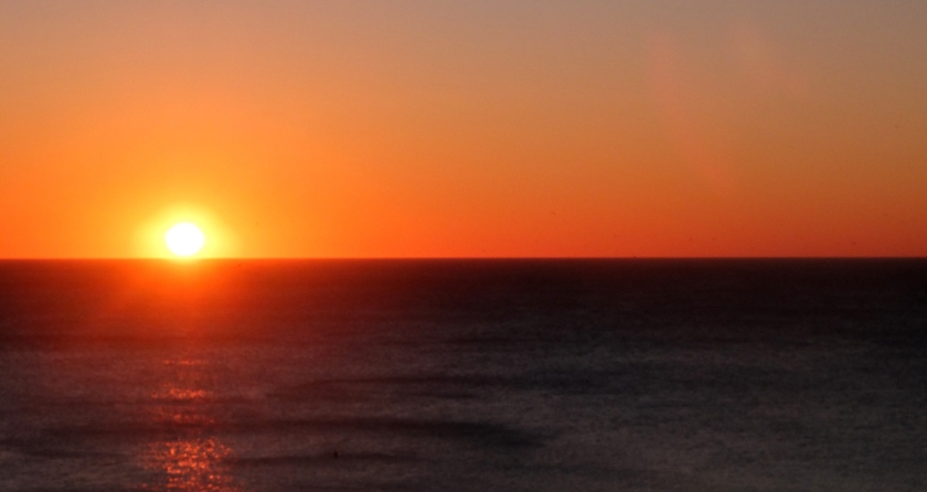 sunrise over the Mediterranean. Malaga