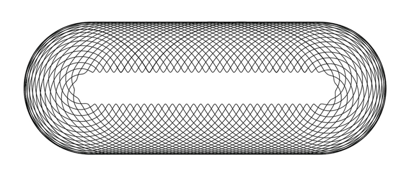 simple spirograph bar pattern in black on white