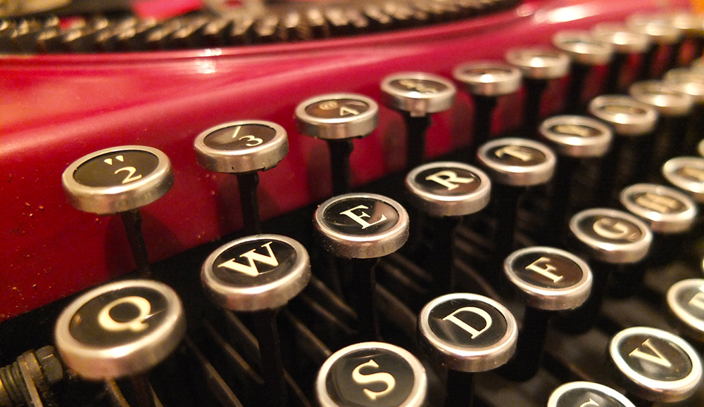 typewriter keyboard close-up