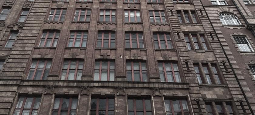 red brick city tenement