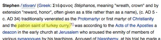 Wikipedia - St Stephen