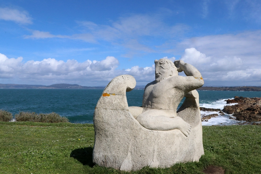 Sculpture: Hécules en la nave de los argonautas