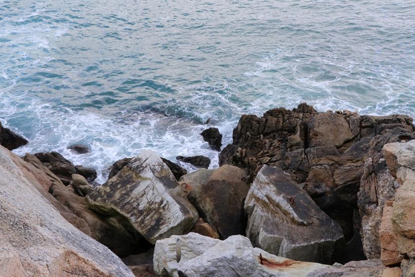 sea and rocks off coast at A Coruña