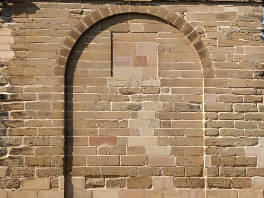 bricked up arch