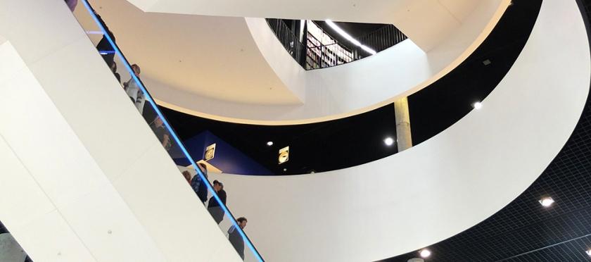 Birmingham library central escalator