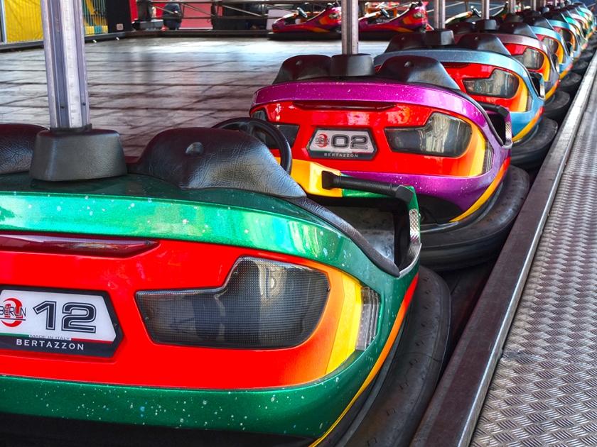 parked dodgem cars