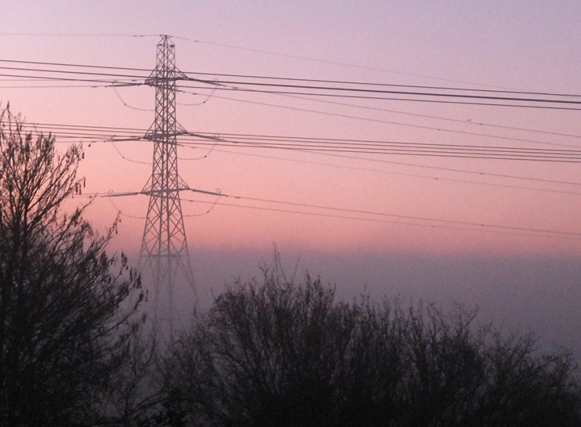 Sunrise looking towards Severn Estuary