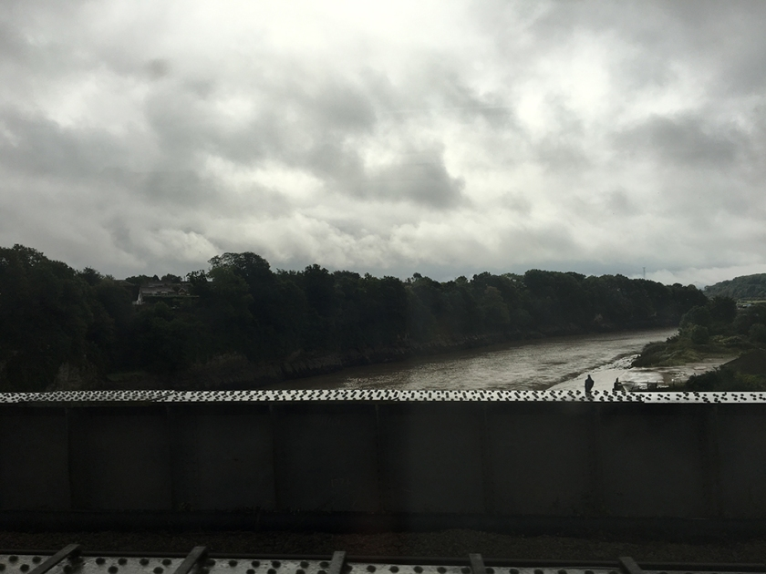 River Wye. Rail crossing