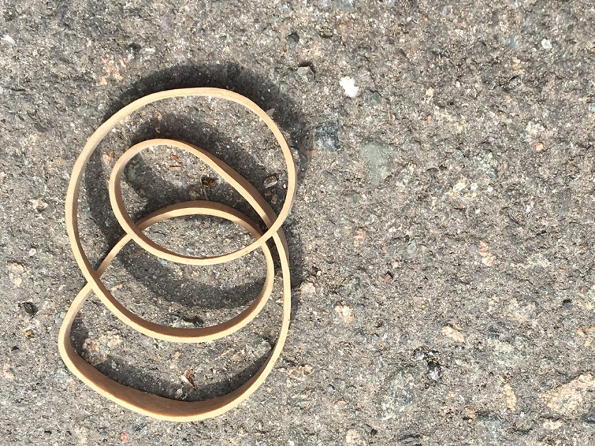 Rubber band on the street