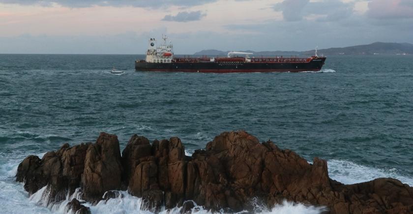 cargo boat  off Galician coast