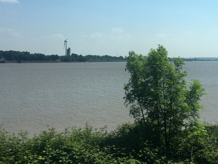 Severn estuary from the train