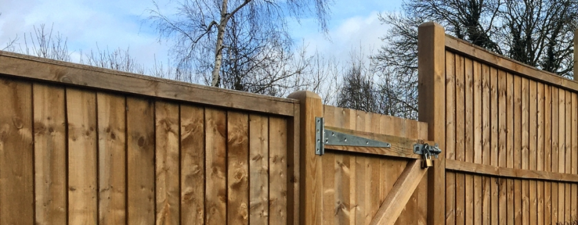 Wooden fence top