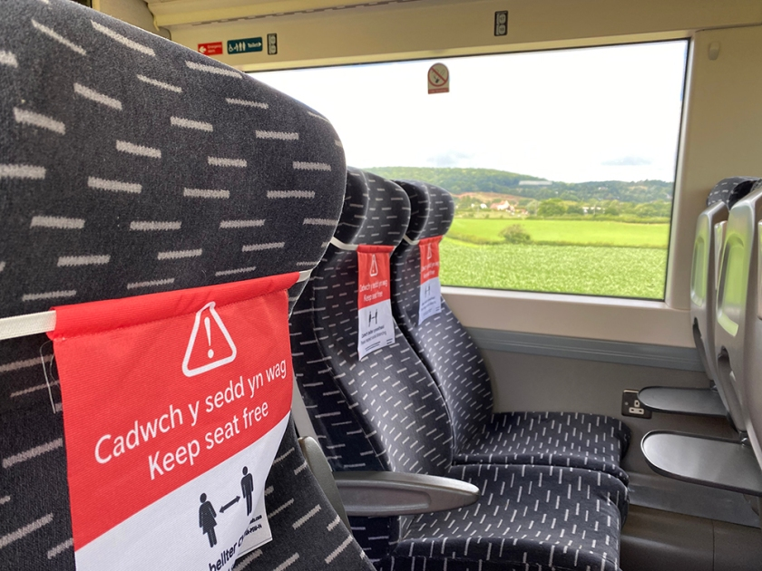 social distance train seating
