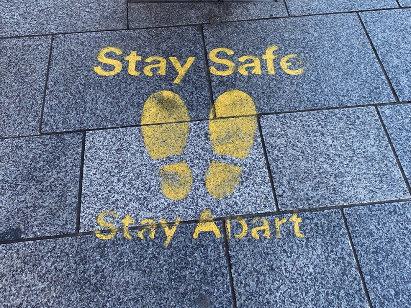 social distance sticker - stay safe stay apart