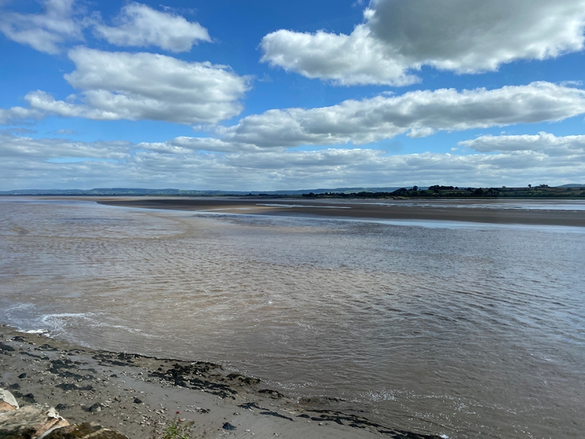 Bright day. Severn River. Severn Estuary