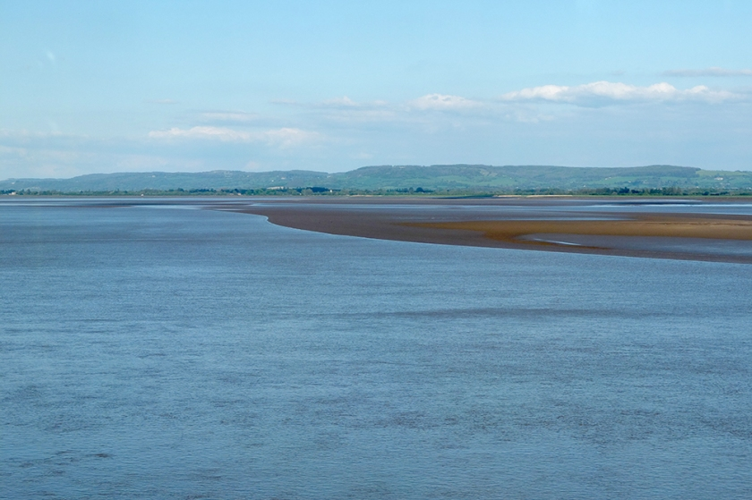 Blue water Severn River. Severn Estuary
