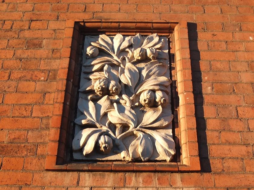 floral relief sculpture