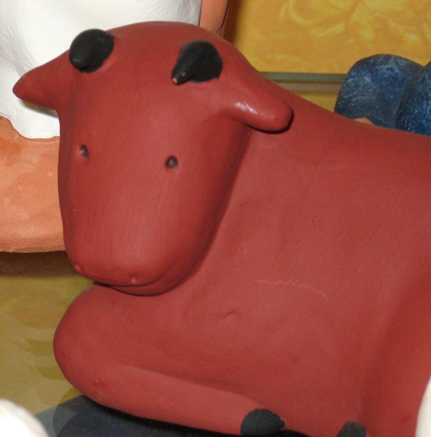 clay ox figurine