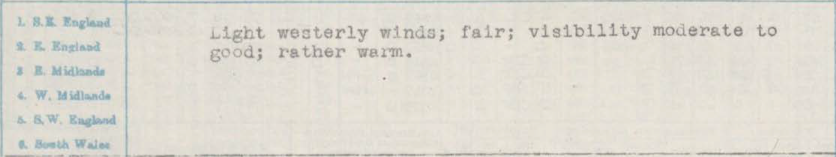 Old weather report detail.