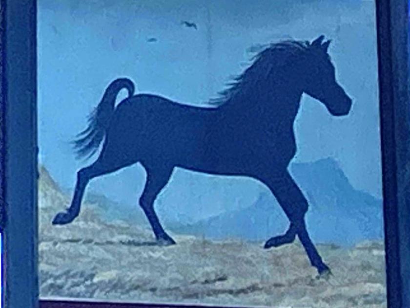 black horse pub sign
