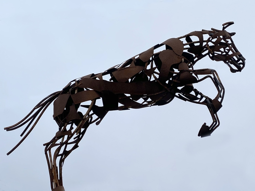 leaping horse statue
