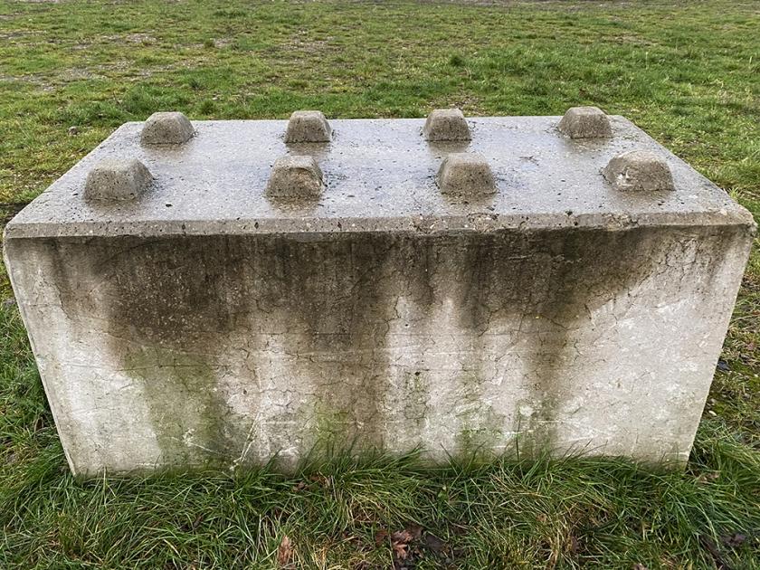 concrete block like giant lego brick
