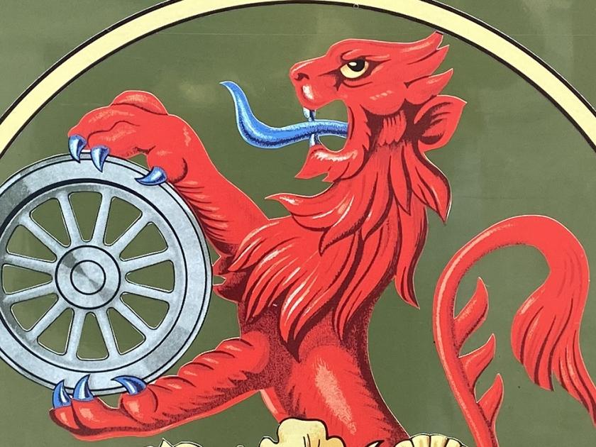 Detail of 1960s British Rail corporate heraldic badge